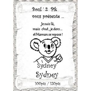 Sydney  version papier