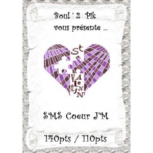 SMS Coeur J'M  version  papier
