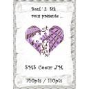 SMS Coeur J'M  version  papier